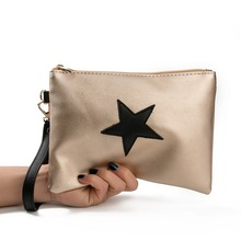 new five pointed star printing handbag day clutches super slight mini envelop bag casual leisure holiday pu