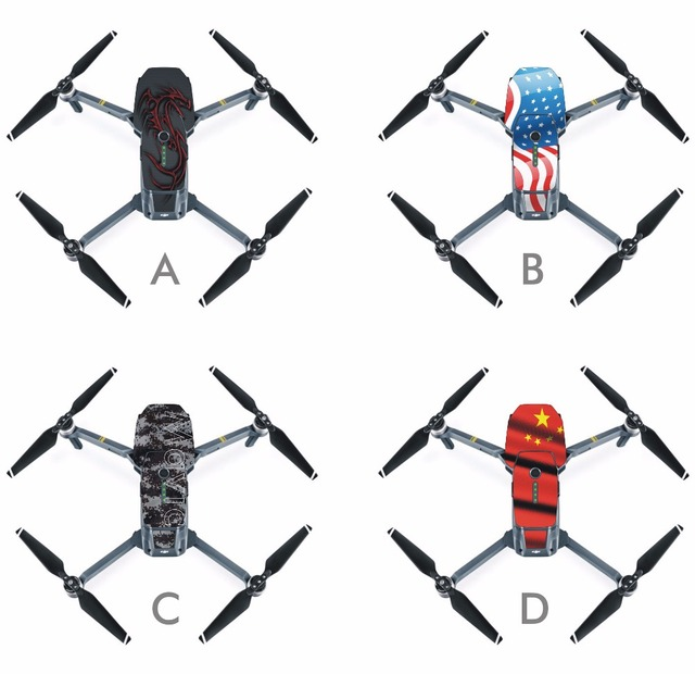 2016NEW MAVIC Personalized Mavic Pro PVC stickers Skin for DJI Mavic Pro Combo Folding FPV Drone With 4K HD Camera RC Quadcopter