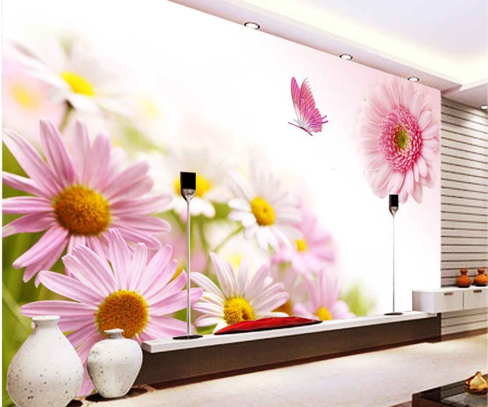 Wallpapers For Living Room Warm Sunflower Photo Wallpaper For Walls Home Decoration Custom Photo Wallpaper