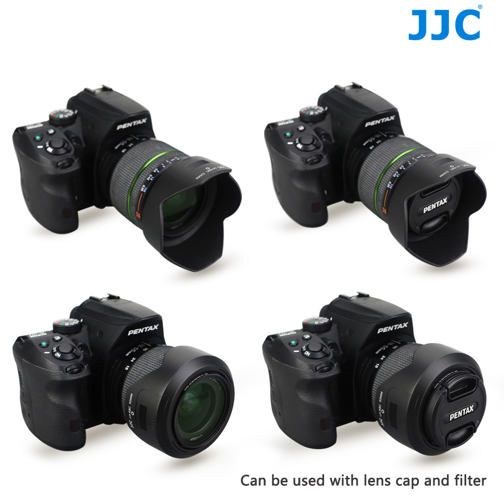 Replaces PENTAX Lens Hood PH-RBC 52MM JJC Lens Hood for Pentax smc DA 18-55mm F3.5-5.6 AL WR Lens