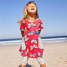 Girls Dresses Children Clothes Summer Girls Dress Cartoon Butterfly Printed Baby Princess Dress for Kids Kids Floral Dress