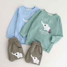 HANQIYAHULI Kids Clothing Sets 2019 Fashion Style Baby Long Sleeve Applique T-shirt+Pants 2Pc Children