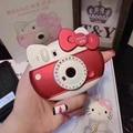 Presente de natal olá kitty câmera bonito 6000 mah banco de potência carregador de energia diy para iphone7 6 s 6 mais android xiaomi telefones universal
