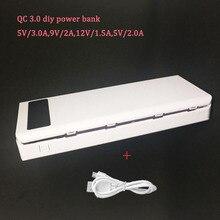 Hızlı Şarj 8*18650 DIY taşınabilir pil Tutucu lcd ekran taşınabilir güç kaynağı kılıfı Hızlı Şarj Kutusu kabuk hızlı şarj 3.0