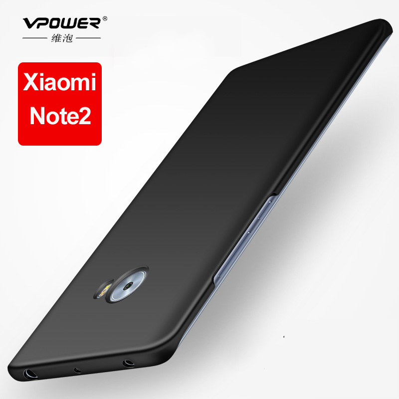 For Xiaomi font b Mi b font Note 2 case Vpower silky feel pc Protection hard