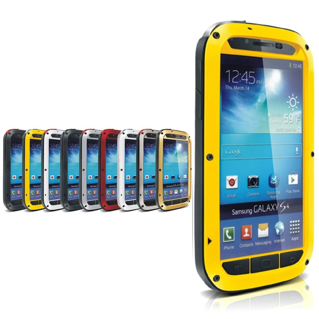 imágenes para De aluminio A Prueba de agua Cubierta de la Caja Para Samsung Galaxy S4 Protectora Hermética Al Polvo A Prueba de Golpes
