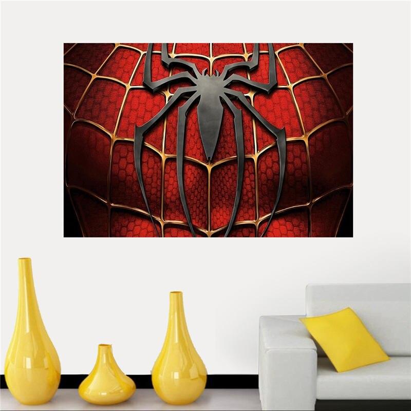Venda Quente Do Homem Aranha Logo Silk Canvas Poster Pano Para