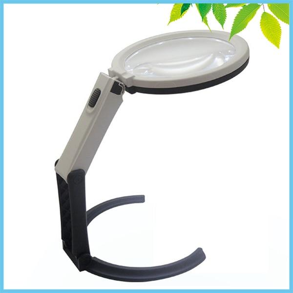 2x 5x table magnifier led lighted magnifying glass lamp big lens desktop