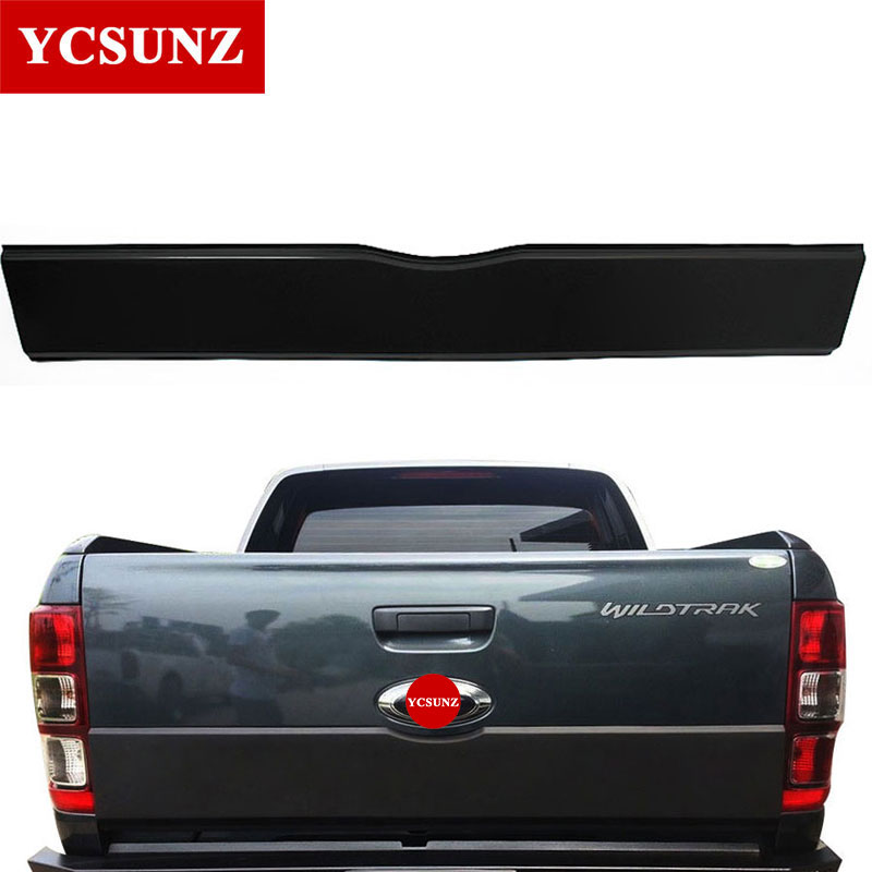цена на 2012-2018 Accessories For Ford Ranger Tailgate Trim Panel Bottom Board Cover Suitable Ford Ranger 2017 T6 T7 Wildtrak Ycsunz