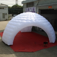 7mD giant inflatable dome tent with 3 doors N removeable veco walls for car exhibition