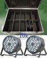 2016 high power led light par 18x12 w rgbw 10 pcs em flightcase plana par led pode lavagem feixe de luz dmx dj disco laser de iluminação de palco