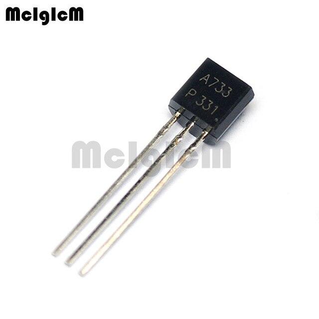 MCIGICM 5000pcs 2SA733 A733 인라인 3 극 트랜지스터 TO 92 0.1A 50V PNP