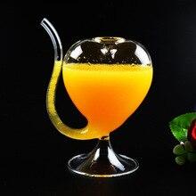 2 teile/los kreative heimat glasgeschirr 300 ML Herz-form wein tasse erschossen glas stroh weinglas Geschenke für liebhaber