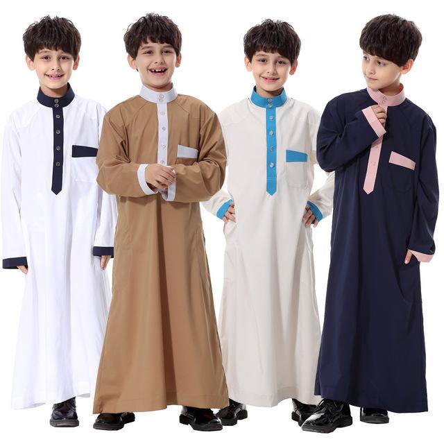 2016 Oferta Especial de Promoção Dos Homens Islâmicos Abaya Vestuário Muçulmano Homens 2017 Muslim Abaya Robes Roupas Jovens Crianças das Crianças
