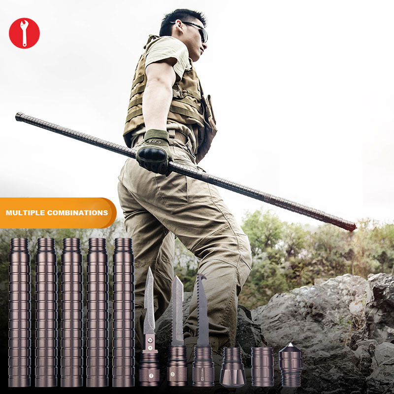 GZPANDA Alpenstocks Walking Poles Outdoor Camping Defense Stick Safety Multi-Functional Home Rod Hiking Survival Tools