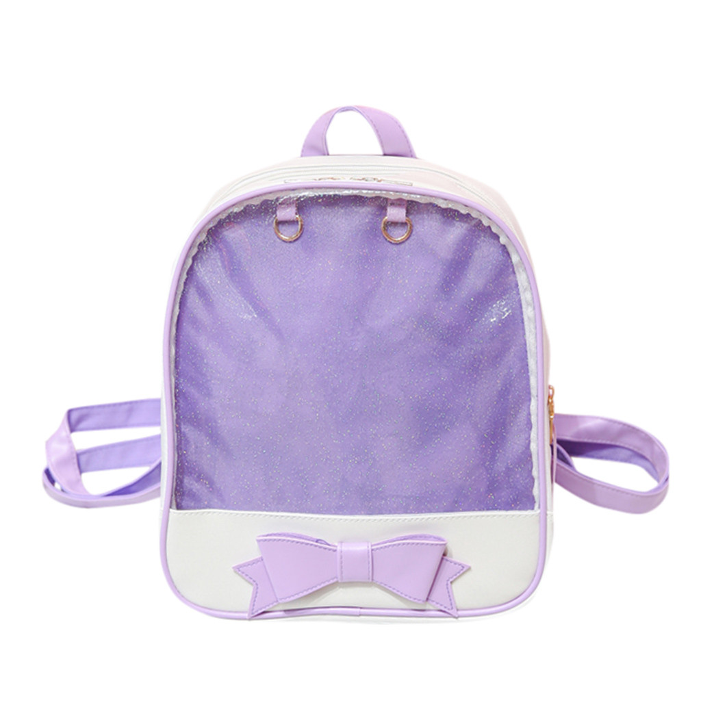 MAIOUMY Fashion Women's Transparent Jelly Chains Square Shoulder Bag Zipper Anti-theft Large Capacity Travel Backpack Hot June 5