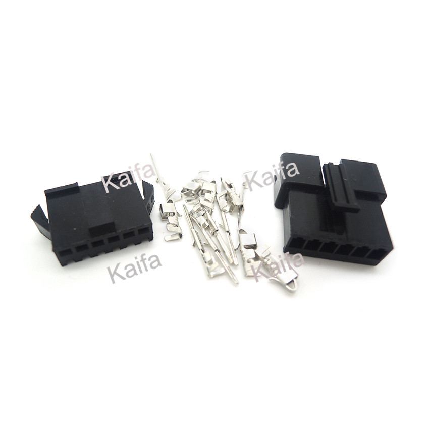10 Sets JST 2.54mm SM 6 Pin 6 Way Multipole Connector plug With ternimal male and female free shipping