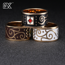 R&X European and American fashion lovers ring ring enamel chain.scarves buckle design jewelry stainless steel jewelry exports