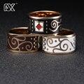 R & X ring ring amantes de la moda de Europa y América esmalte cadena. scarves hebilla de diseño de joyería de acero inoxidable de la joyería las exportaciones
