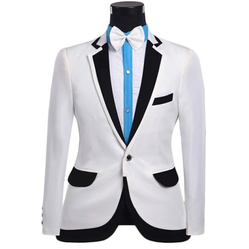 Popular White Tuxedo Jacket Black Lapel-Buy Cheap White