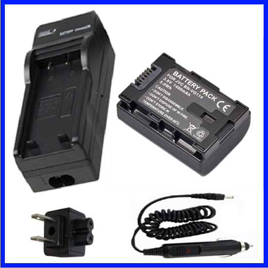 GZ-EX210BEK Full HD Memory Camcorder Battery 2 Pack and LCD USB Battery Charger for JVC Everio GZ-EX210BE GZ-EX210BEU