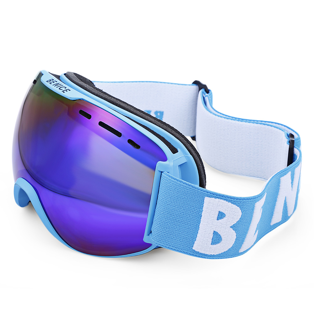 BENICE Unisexe Lunettes de Ski Lunettes Hommes Femmes Protection UV Anti Brouillard À Double Lentille Escalade Snowboard Ski Lunettes Lunettes dans Ski Lunettes de Sports et loisirs