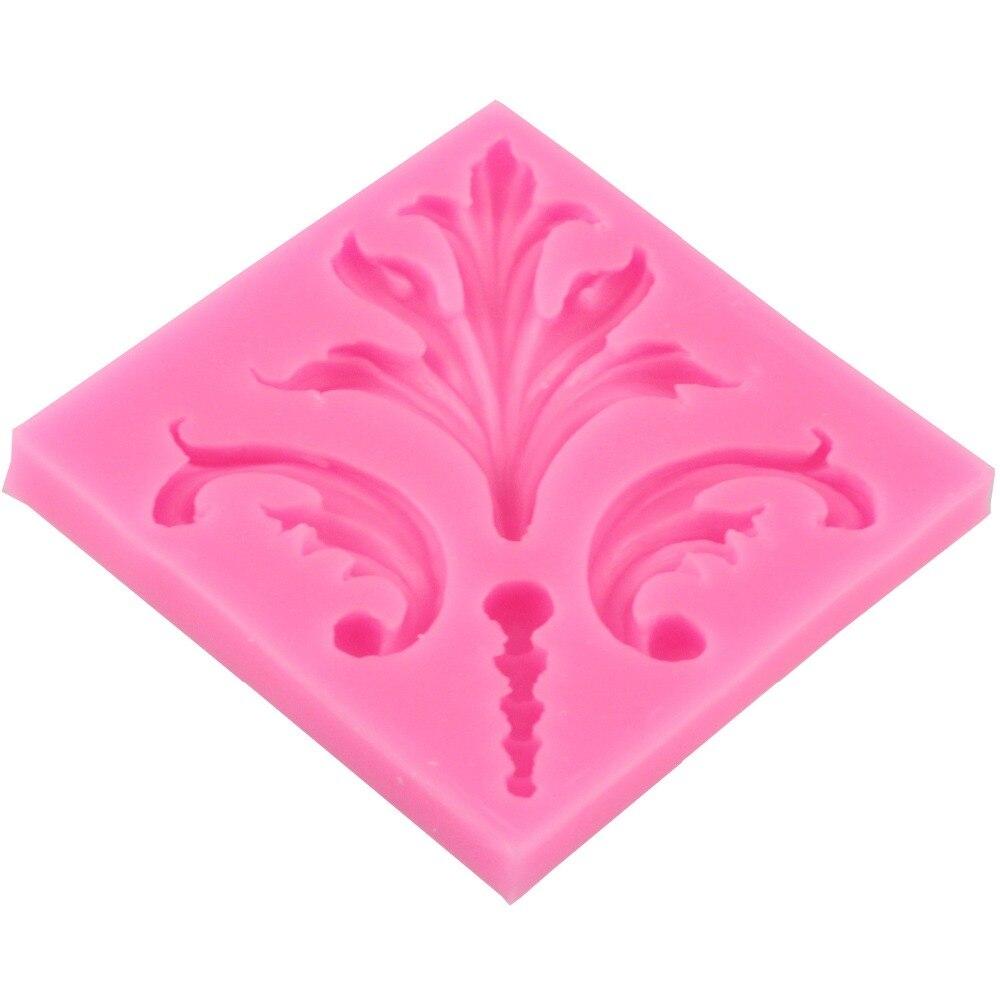 №Hermosa flor Encaje pastel patrón fondant cake molde silicona ...