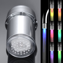LED Light Faucet Shower Head Water Bath Home Bathroom Glow Ship Kitchen Romantic 7 Color Changeable With Adapter ouneed 35 24mm romantic 7 color change led light shower head water bath home bathroom glow happy gifts high quality abs