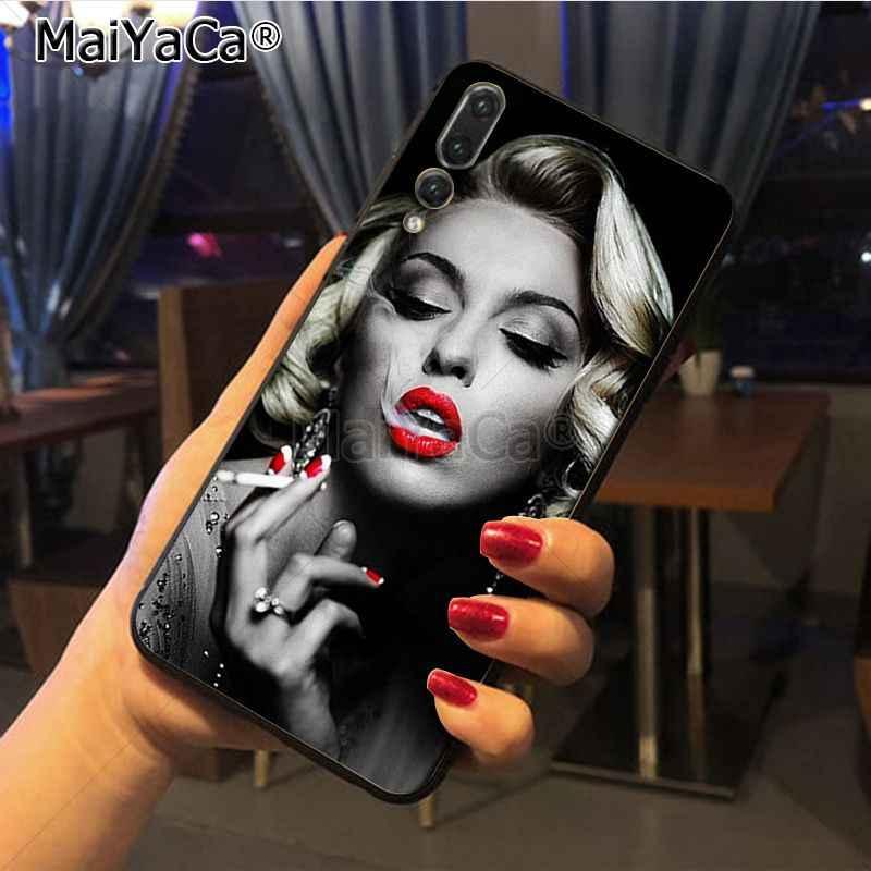 Maiyaca Marilyn Monroe Ưu Đãi Đặc Biệt Sang Trọng Đứng Ốp lưng điện thoại Huawei Honor 9 Danh Dự 10 P20 Ốp lưng Coque