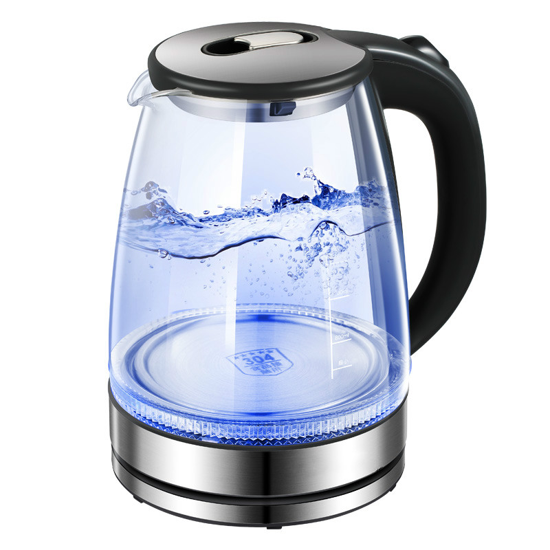 Glass electric kettle boiling water boiler household transparent automatic power cut thermal insulation large capacitGlass electric kettle boiling water boiler household transparent automatic power cut thermal insulation large capacit