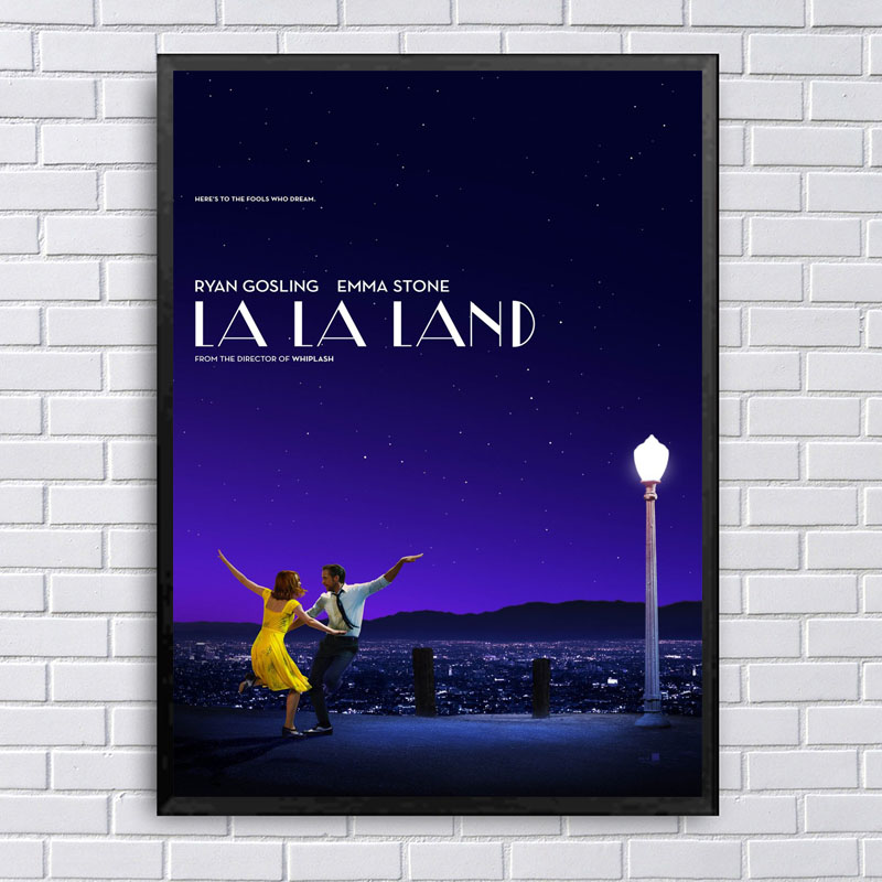 Lala Land Movie Poster Canvas Painting Posters And Prints Wall Art Pictures For Home Dec ...