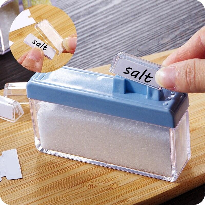 Kitchen Spice Jar Seasoning Jar Creative Organizer DIY Condiment Box Storage Box Sets Transparent Separated Pepper Salt Bottle-in Storage Boxes u0026 Bins from ... & Kitchen Spice Jar Seasoning Jar Creative Organizer DIY Condiment Box ...