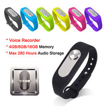 Wearable Digital Voice Recorder 16GB 280 Hours Audio Storage Portable Wristband 4G/8G USB Flash Drive Audio Bracelet Colorful