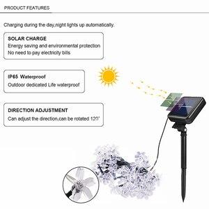 Image 3 - 5m/7m/10m 태양 화환 꽃 꽃대 Led 요정 빛 USB 문자열 조명 웨딩 파티 크리스마스 빛 야외/실내 장식