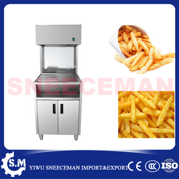 1m commercial Stainless Steel French Fries Warmer for sale Potato Chip Workbench