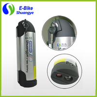 Free Shiping Lithium Ion Battery 36v 10ah Bottle Battery For Electric Bike Including Charger Holder