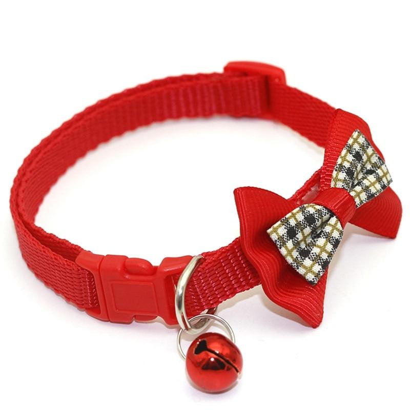 """1 шт., карамельный цвет, регулируемый галстук-бабочка, колокольчик, распродажа, ошейник """"галстук-бабочка"""", щенок, котенок, собака, кошка, домашнее животное, Прямая поставка - Цвет: RD2"""