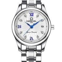 Carnaval Relógio Marca As Mulheres Japão relógio de Quartzo relógios de Luxo Suíça Mulheres Relógios Masculino Militar À Prova D' Água reloj hombre C8827L-1