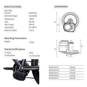 Image 3 - TOSHENG Bicicletta Elettrica FAI DA TE Kit Motore Metà Auto Kit Motore Brushless 48V 500W 36V 350W 250W E Bike Metà Motore Parti Di Conversione