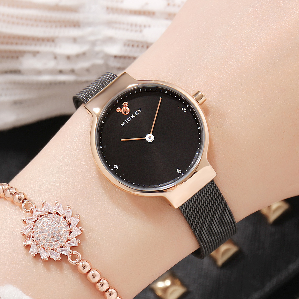 womens watches stainless steel Disney brand Mickey mouse ladies wristwatches quartz waterproof woman clocks blue black silver woman bracelet watches rose gold disney brand women clocks stainless steel mickey mouse luxury diamond 30m waterproof wristwatch