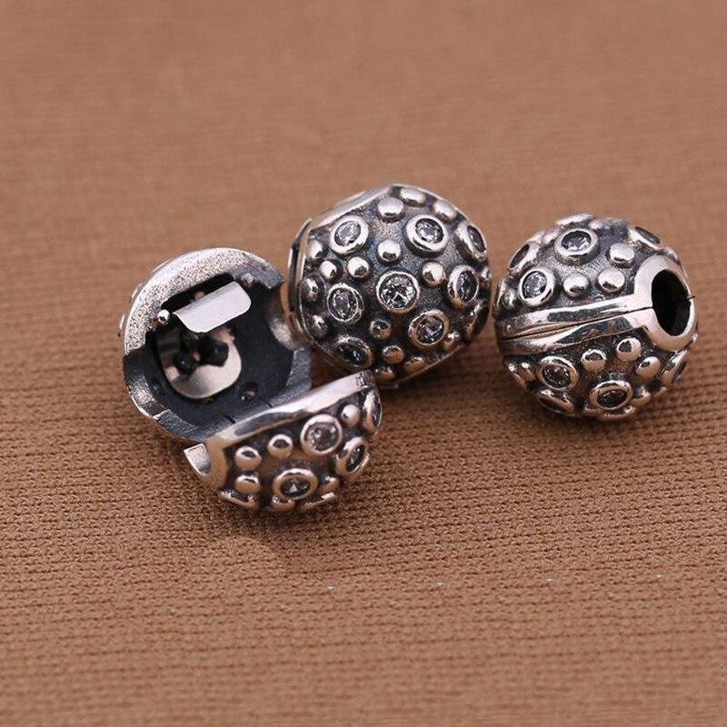Prix pour Unique Authentique 100% 925 Perles En Argent Sterling Charme Daisy Clip Sécurité Stopper Perles Fit Bracelets & Bangles Collier