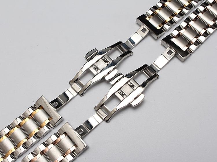 Nyt metalurbånd buede ender sølv & rosegold guldfarve modeur - Tilbehør til ure - Foto 6