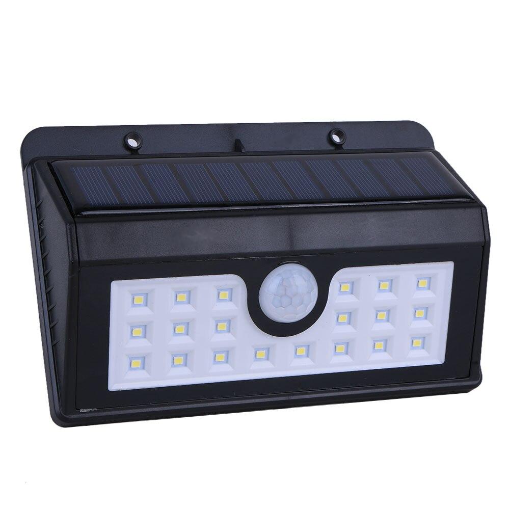 1pc 20 LED Waterproof Solar Light Solar Power Outdoor Garden Light PIR Motion Sensor Pathway Security Wall Lamp