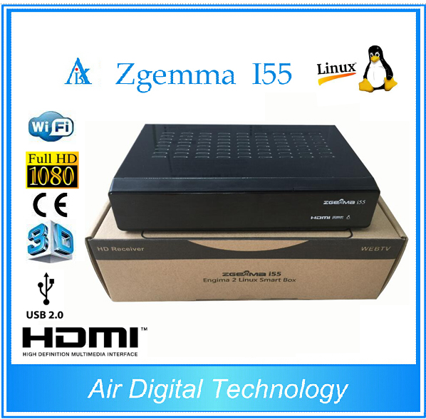 5pcs Latest 2017 Powerful Zgemma i55 IPTV Box HDTV Linux Enigma 2 TV Box without account 10pcs zgemma star i55 support satip iptv box bcm7362 dual core mainchipset 2000 dmips cpu linux enigma 2 hdmi connection