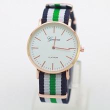 Cassic Brand Geneva Simple Casual Quartz watch men kobiet zegarka Nylon strap Dress watches women watch Gold Dropshipping Gift