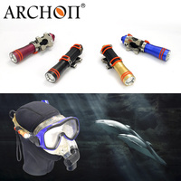 ARCHON Waterproof 100 m depth diving equipment professional mask scuba diving flashlight 120 min diving lighting flashlight