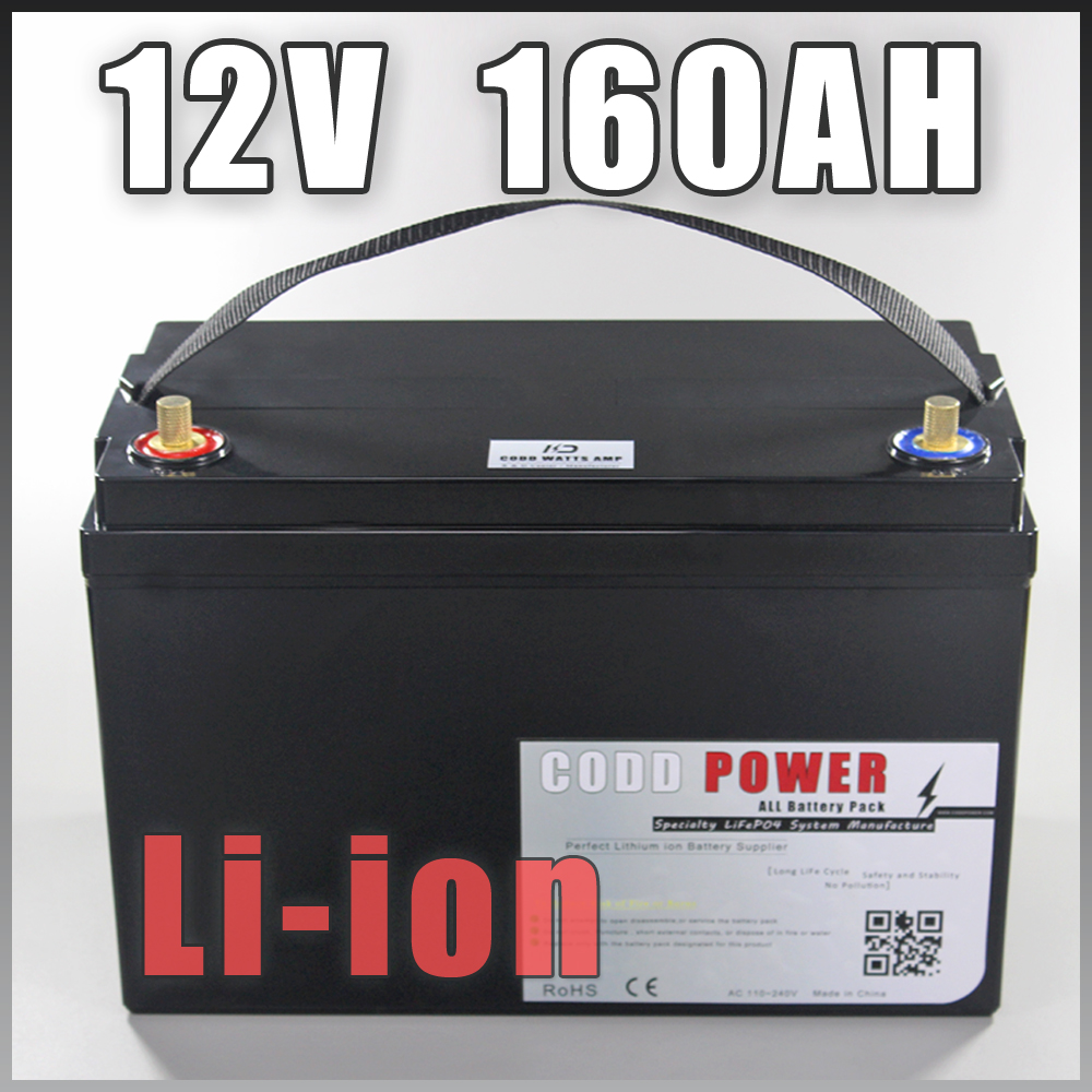 12V 160AH Rechargeable Lithium Ion battery pack capacity DC 12V 12.6v 16000mah battery CCTV Cam Monitor