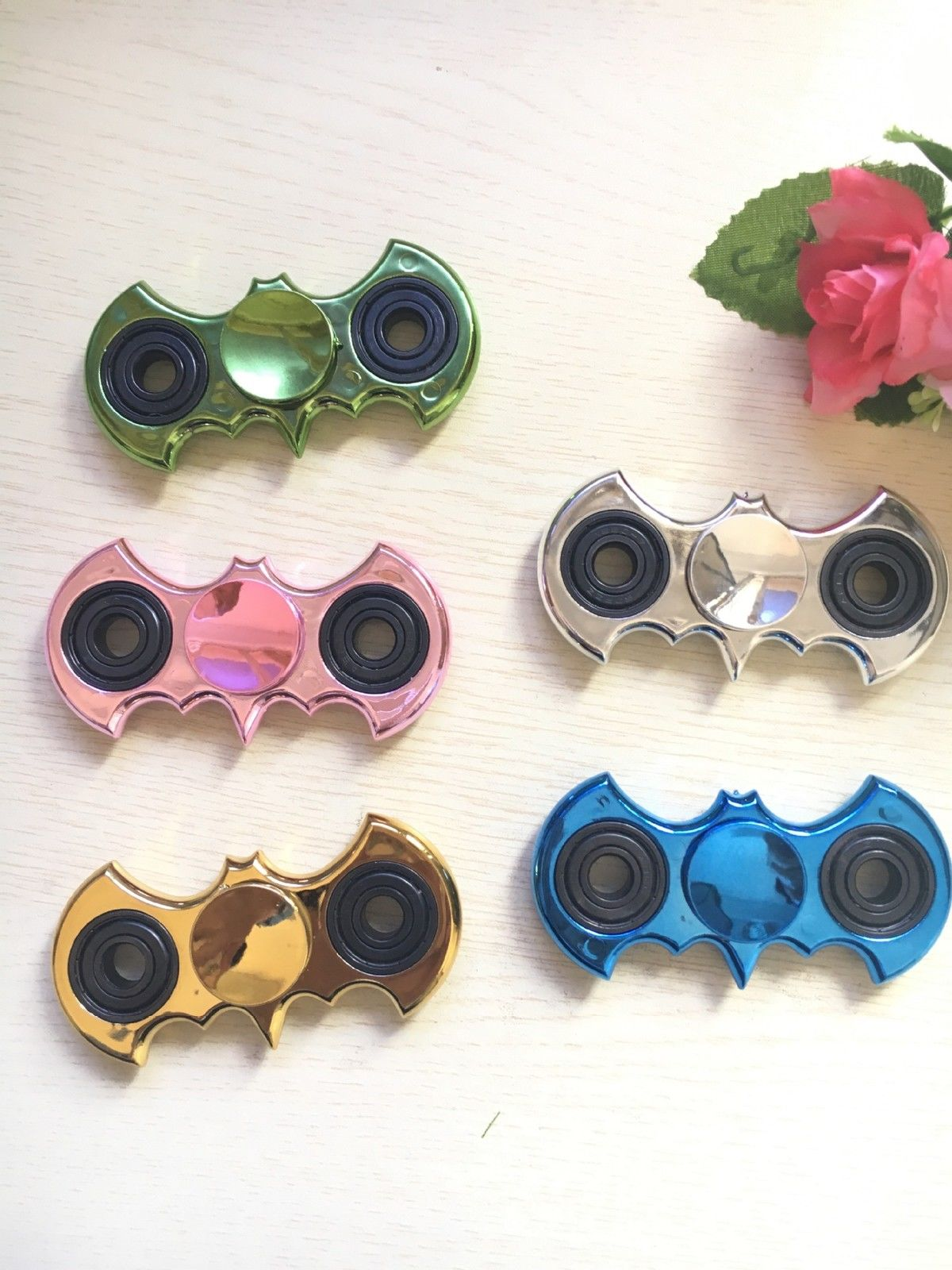 Randomly Colors Two Leaves Fidget Autism Hand Spinner Increase Focus ADHD EDC Gold Finger Gyro Hand