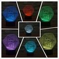 Creativo 3d resumen gráfico de la ilusión de la lámpara led luz de la noche 3d acrílico lamparas atmósfera lámpara de iluminación novelty home decorate