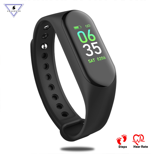 New M3 Color Screen Smart Band Heart Rate Monitor Blood Pressure Activity Tracker Pedometer Wristband Bracelets